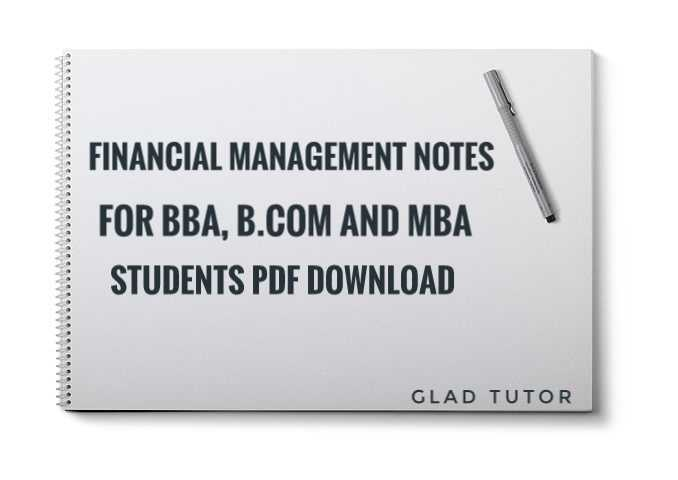 Financial Management Notes for MBA, BBA PDF Download
